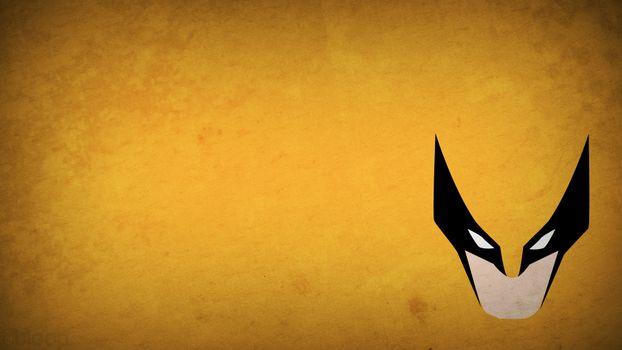Бесплатные фото минимализм,маска,оранжевый фон,глаза