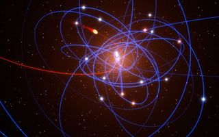 Фото бесплатно траектория звезд, центр нашей галактики, черная дыра