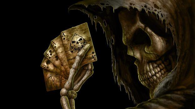 Photo free player, poker, death
