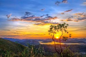 Фото бесплатно горы, озеро, закат