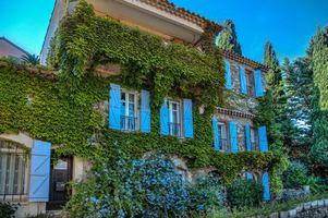 Заставки Grimoud, France, Гримо, Франция, дом, здание, архитектура