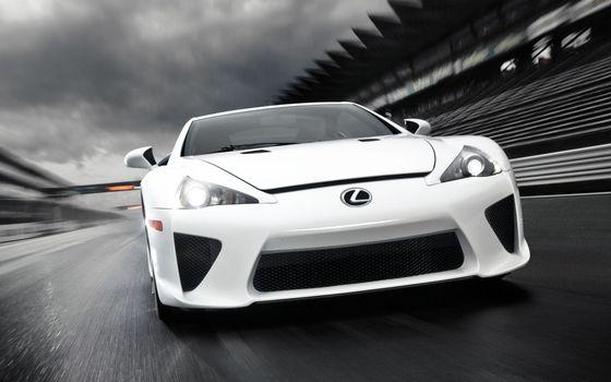 Photo free Lexus, track, asphalt