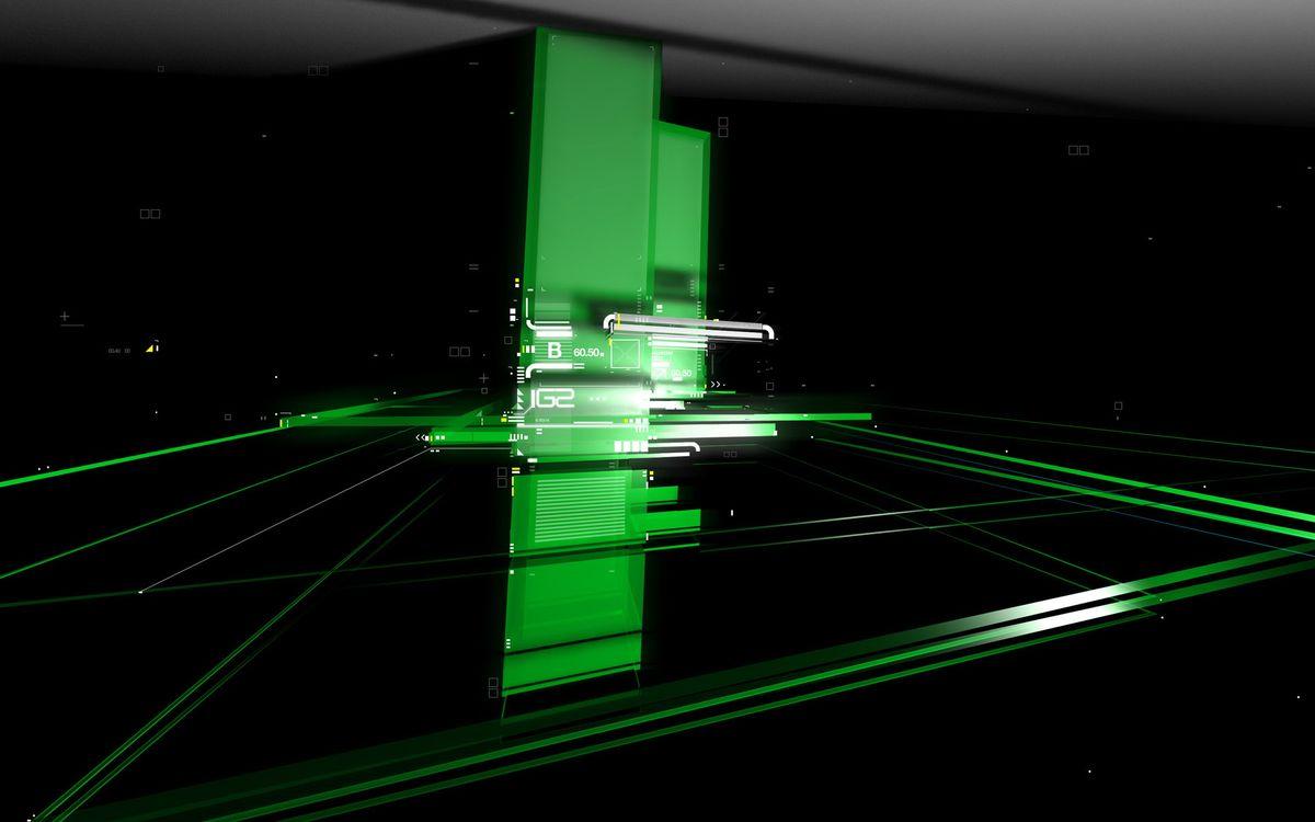 Фото бесплатно линии, цвет, зеленый - на рабочий стол
