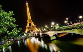 Бесплатные фото париж, франция, башня, эйфелева, мост, река, город