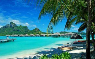 Фото бесплатно песок, бунгало, океан