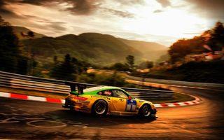 Бесплатные фото ралли,гонка,машина,порше,тюнинг,трасса,горы