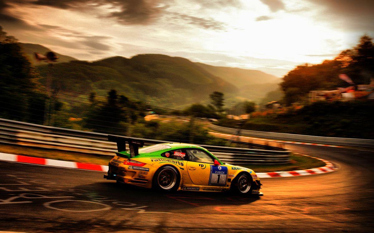 Фото бесплатно ралли, гонка, машина, порше, тюнинг, трасса, горы, спорт, спорт