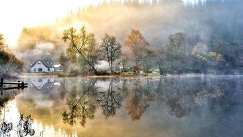 Фото бесплатно отражение, вода, дома