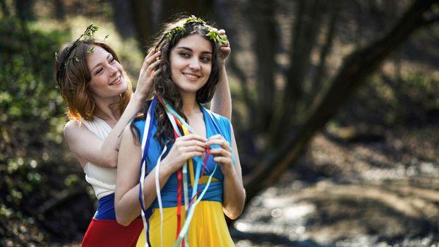 Фото бесплатно русская, украинка, венки