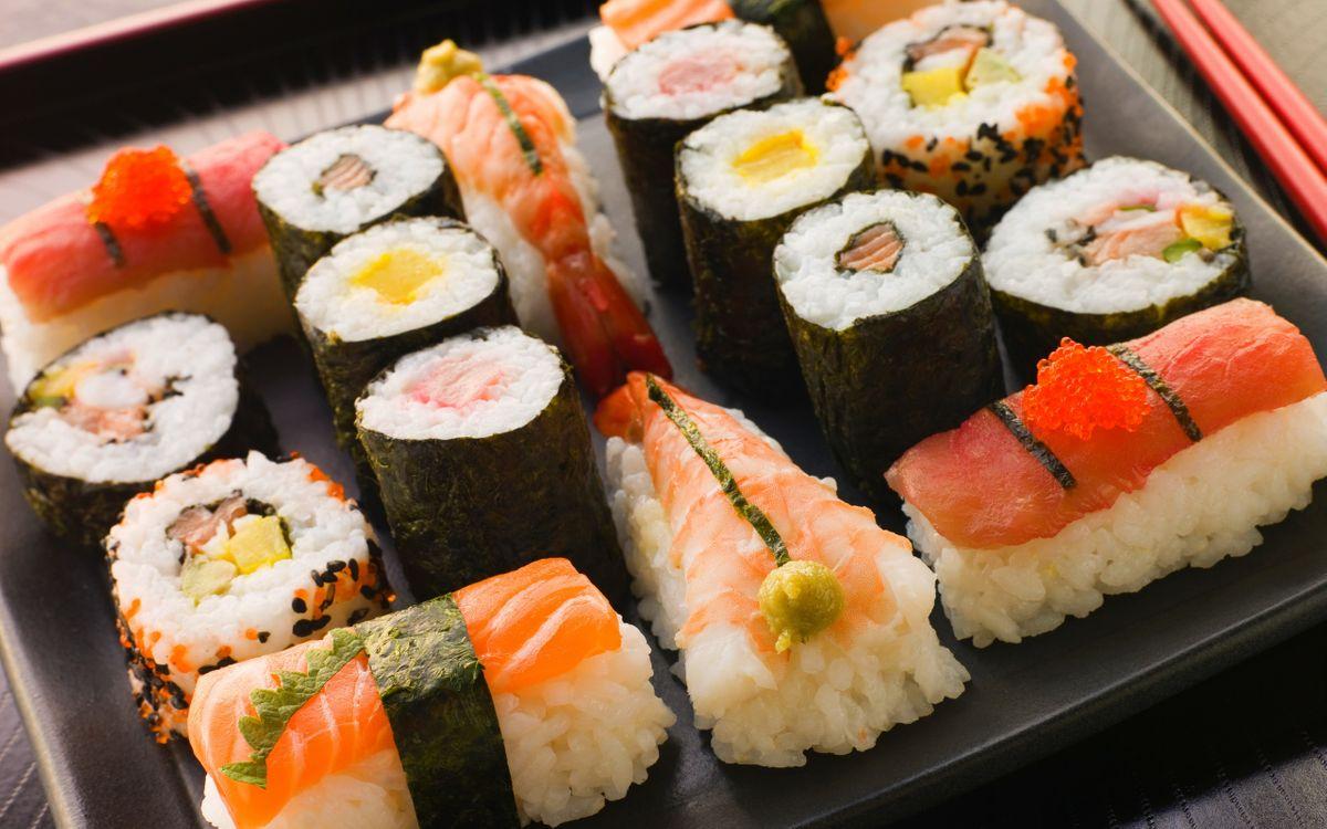 Фото бесплатно суши, роллы, рыба - на рабочий стол