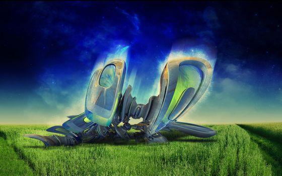 Фото бесплатно трава, поле, дорожки