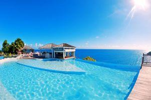 Фото бесплатно море, пейзажи, бассейн