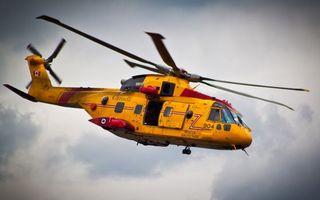 Фото бесплатно вертолет, лопасти, полет