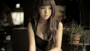 Фото бесплатно волосу, темные, платье