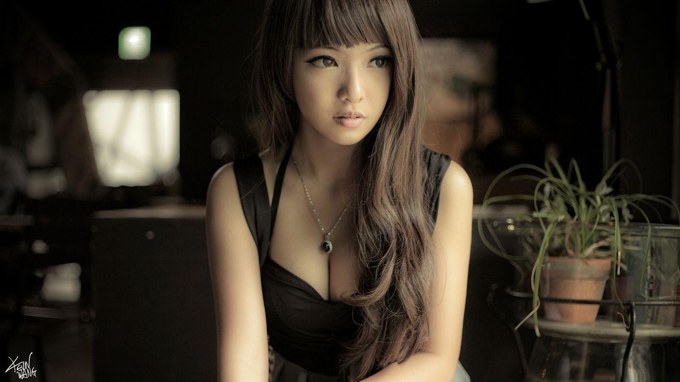 Фото бесплатно волосу, темные, платье - на рабочий стол