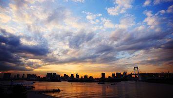 Фото бесплатно закат, солнце, залив