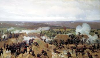 Photo free battle, under the spitting, Russian-Turkish war
