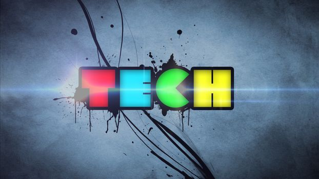 Заставки tech, краски, стиль