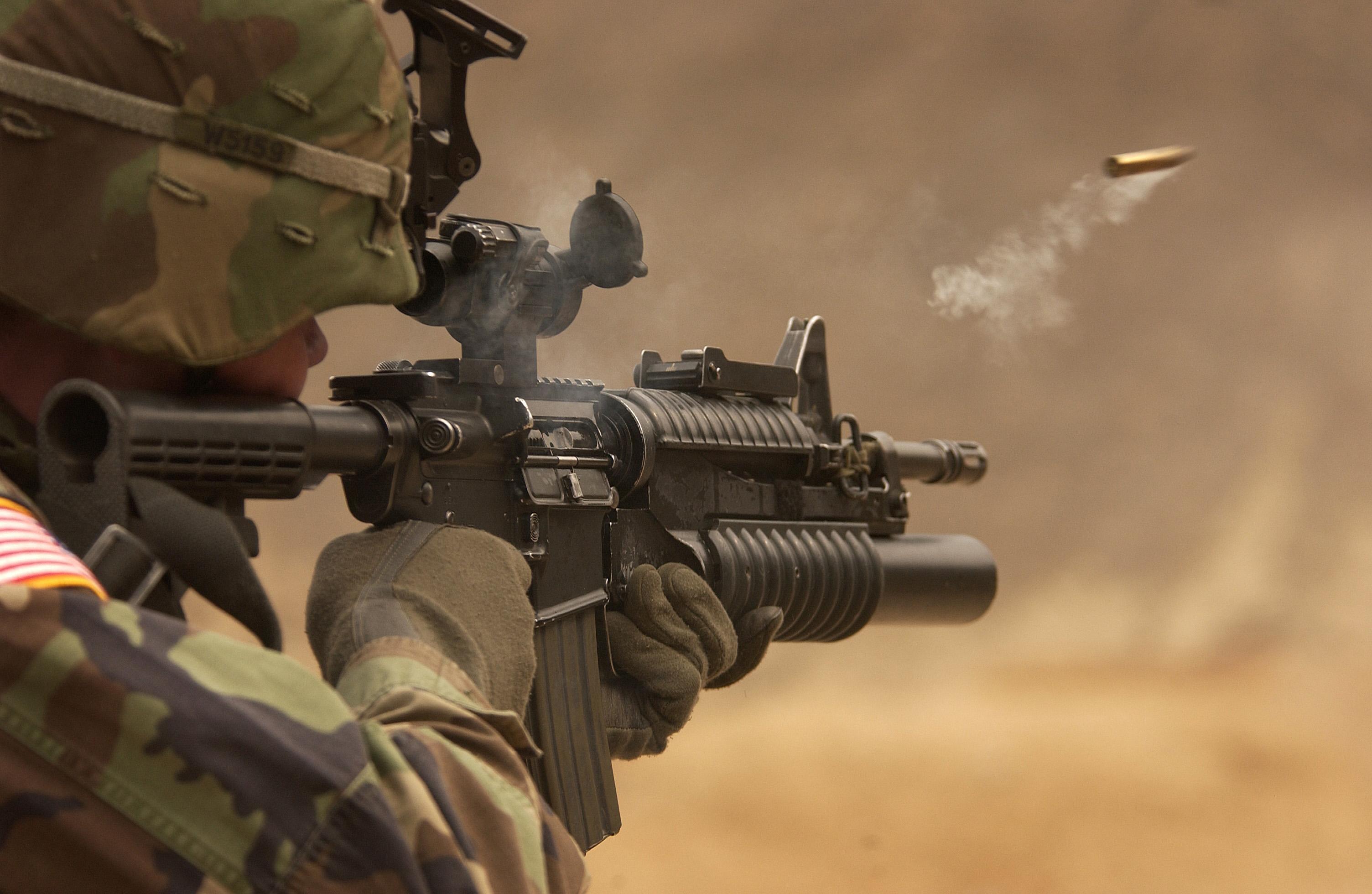 оружие, вистріл, пісок