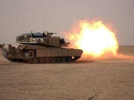 Фото бесплатно танк, поле, полигон