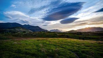 Бесплатные фото англия,поля,холмы,простор,трава,небо,облака