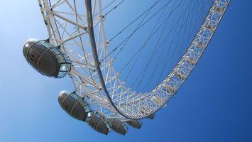 Бесплатные фото аттракцион, колесо, кабинки, высоко, небо, голубое, разное