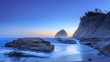 Бесплатные фото берег,море,скала,камни,валуны,песок,туман