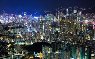 Бесплатные фото дома,небоскребы,огни,свет,фонари,ночь,города