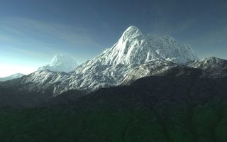 Фото бесплатно снег, скалы, облака