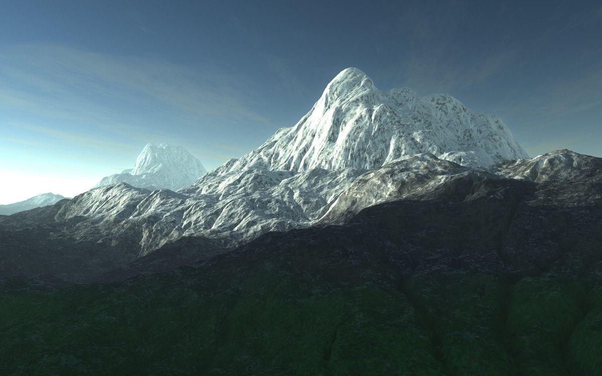 Фото бесплатно горы, скалы, вершины, снег, небо, облака, пейзажи