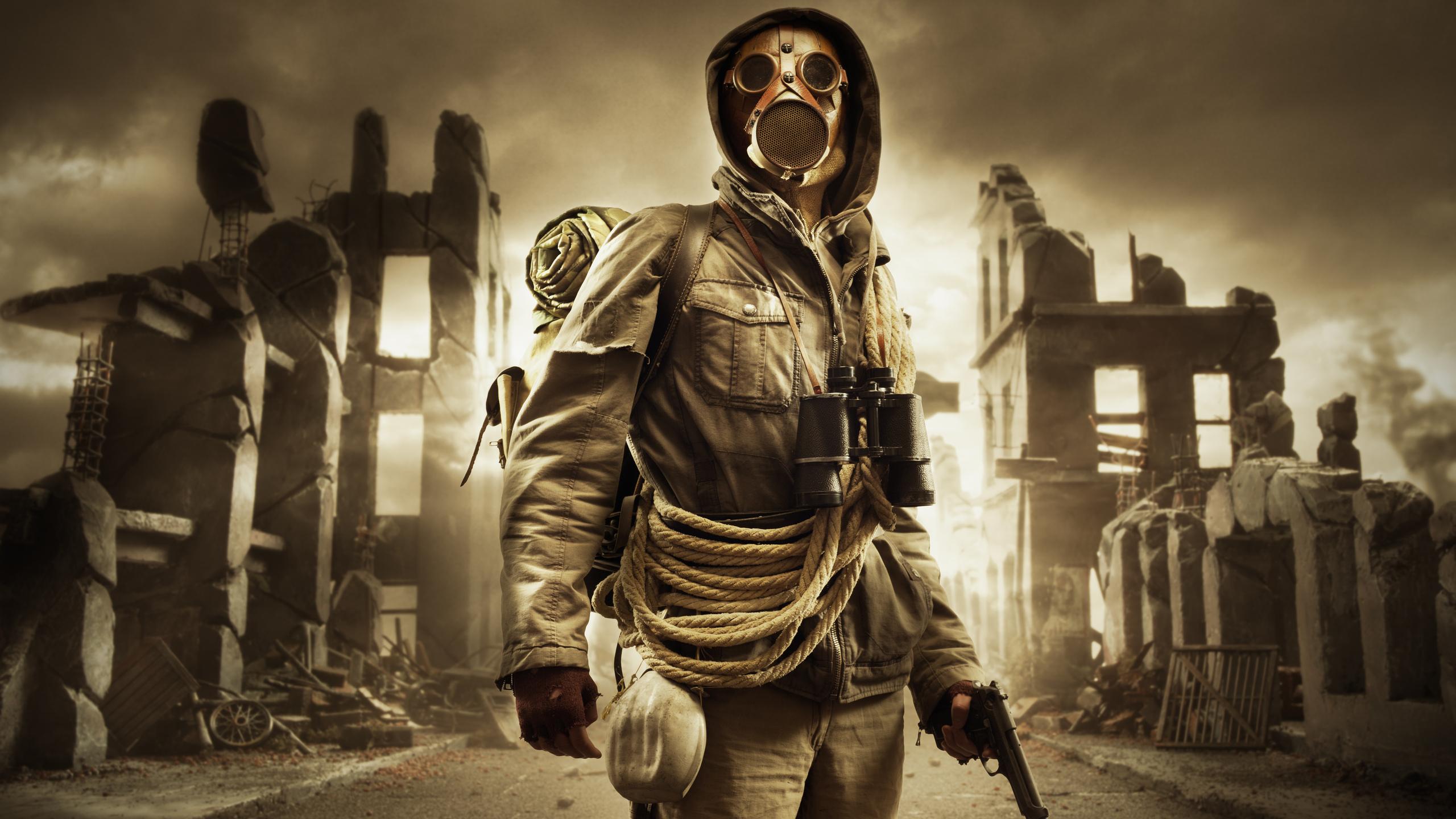 город, разрушение, война