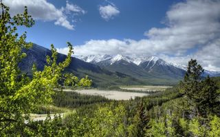 Фото бесплатно Вершины, озера, снег