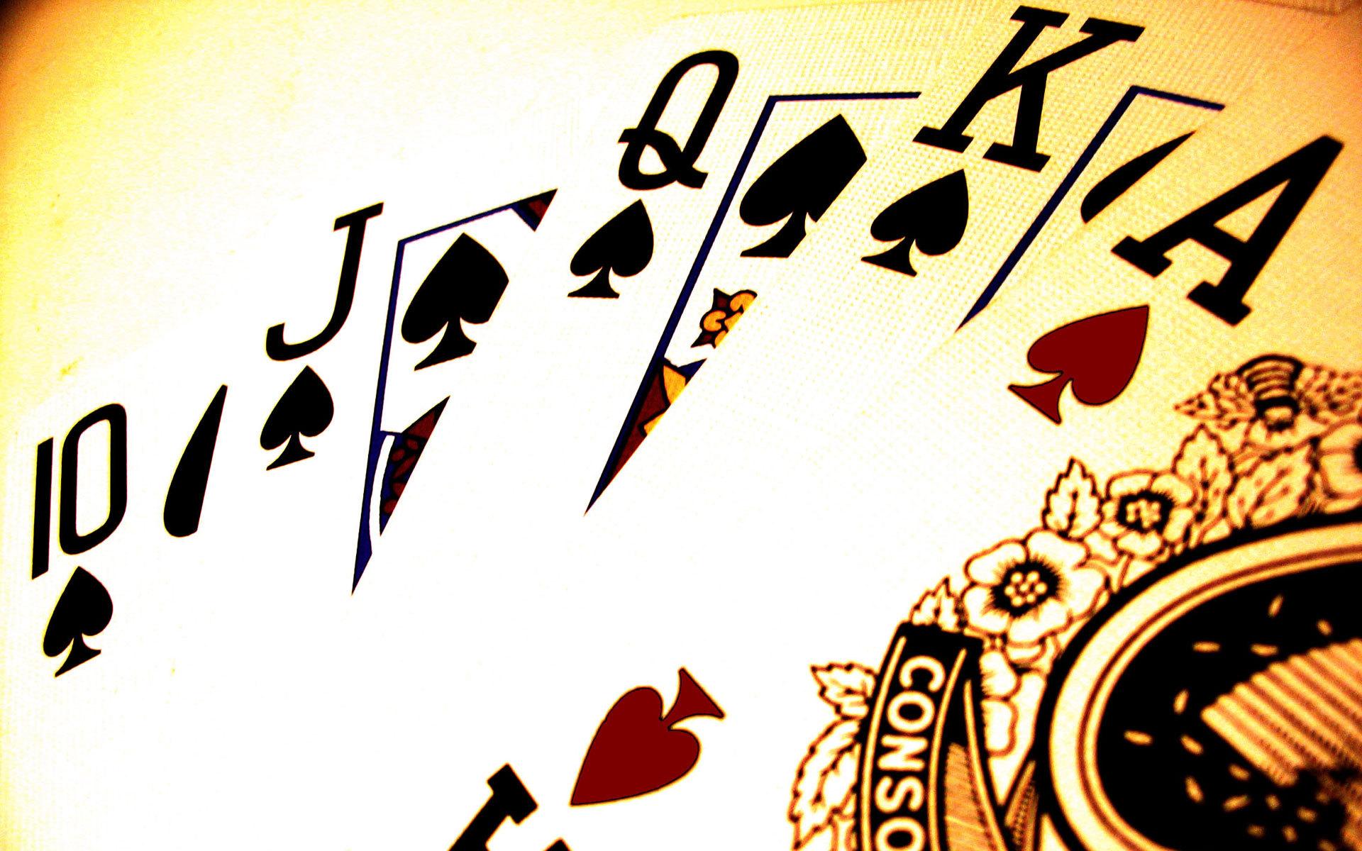 карты, покер, роял флеш