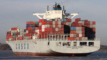 Заставки корабль,большой,контейнеры,кран,вода,море,разное