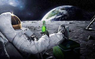 Photo free cosmonaut, space, beer