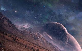 Фото бесплатно фантазия, звезды, планеты