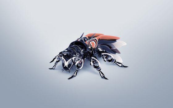 Бесплатные фото муха,робот,крылья,лапы,голова,металл,фантастика