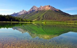 Бесплатные фото небо,голубое,лето,тепло,зелень,леса,гора