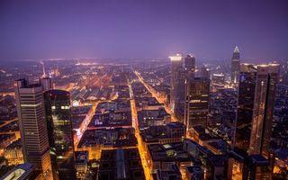 Бесплатные фото ночь,дома,небоскребы,улицы,фонари,огни,город