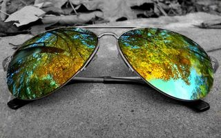 Photo free glasses, aviators, reflection