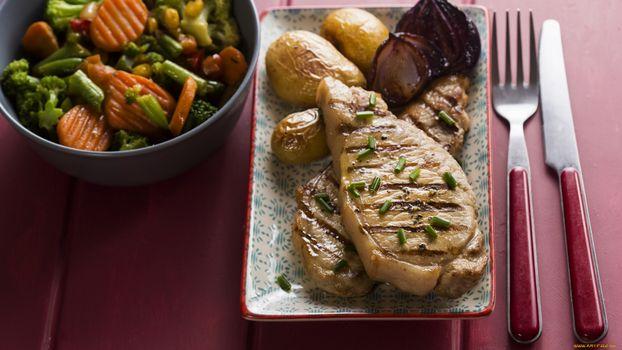 Фото бесплатно овощи, тарелка, бутерброды