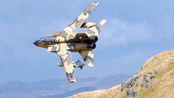Бесплатные фото самолет, военный, крылья, кабина, небо, горы, авиация