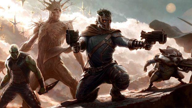Бесплатные фото стражи,галактики,guardians of the galaxy,2014,фантастика,войны,оружие,фильмы