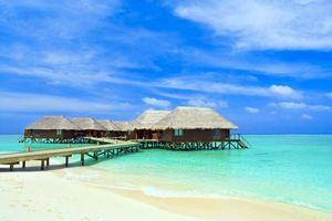 Фото бесплатно пляж, бунгало, тропики
