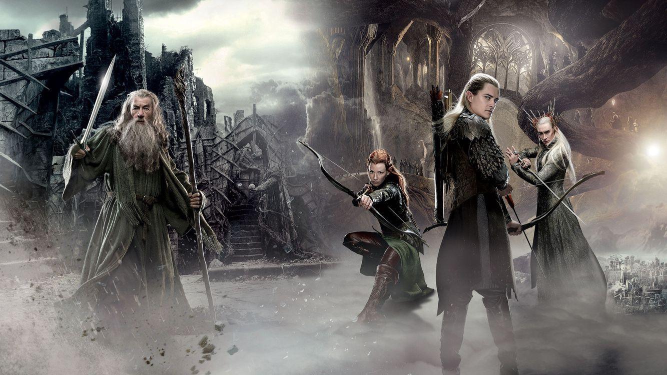 Фото бесплатно властелин колец, эльфы, гэндальф, воины, замок, сказка, фильмы, фильмы