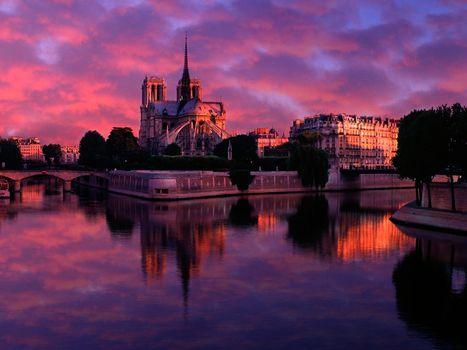 Бесплатные фото здания,старинные,небо,деревья,сумерки,облака,город