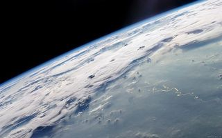 Photo free planet, river, from space