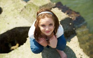 Photo free brown-haired, girl, amelie