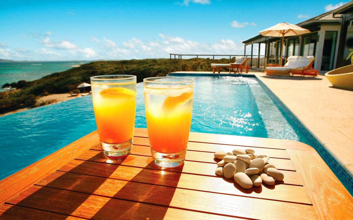 Фото бесплатно апельсиновый коктейль, бассейн, вила - на рабочий стол