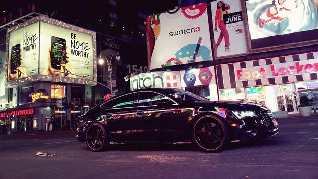Photo free car, street, evening